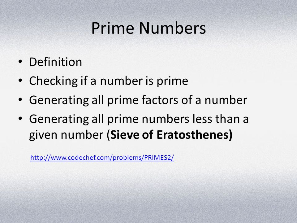 Prime Numbers Definition Checking if a number is prime