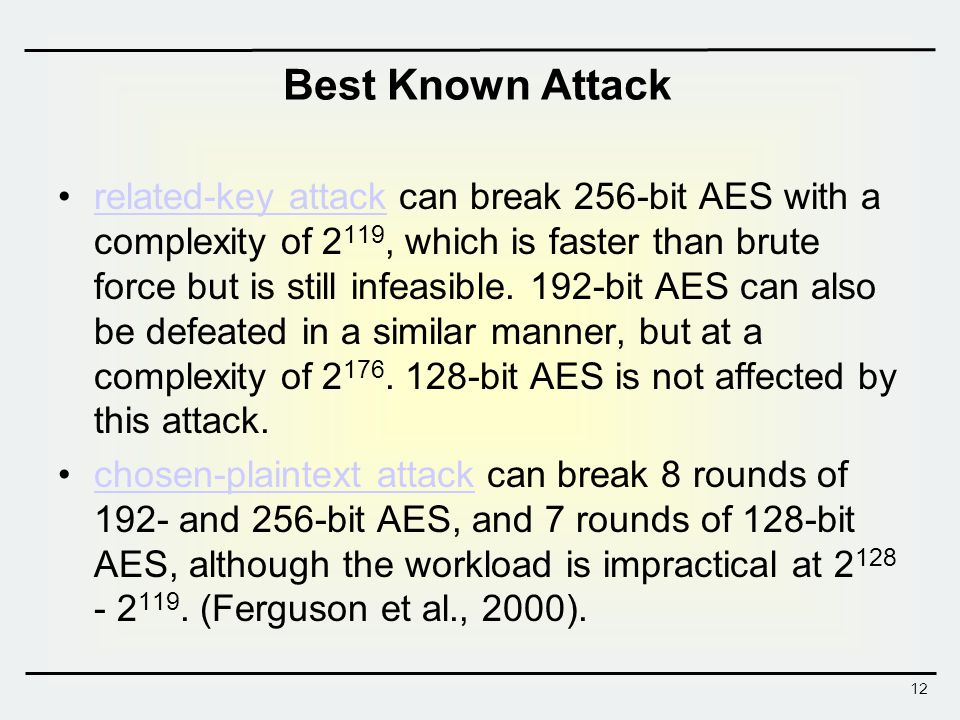 Best Known Attack