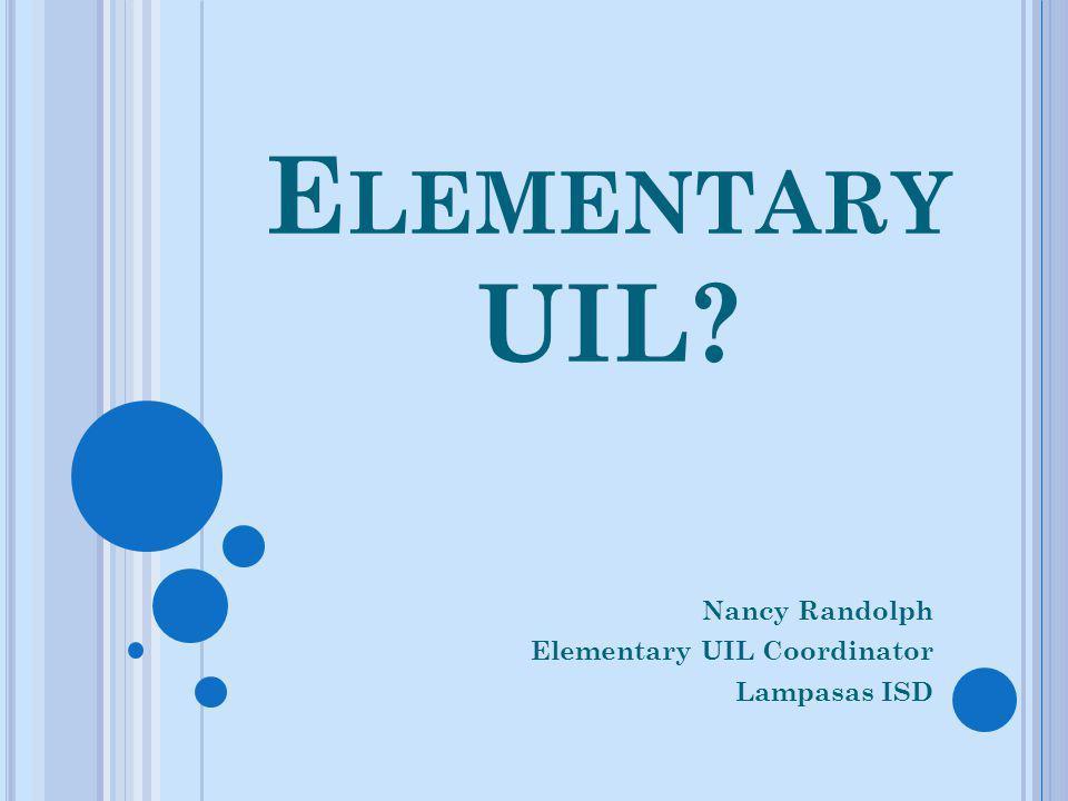 Nancy Randolph Elementary UIL Coordinator Lampasas ISD
