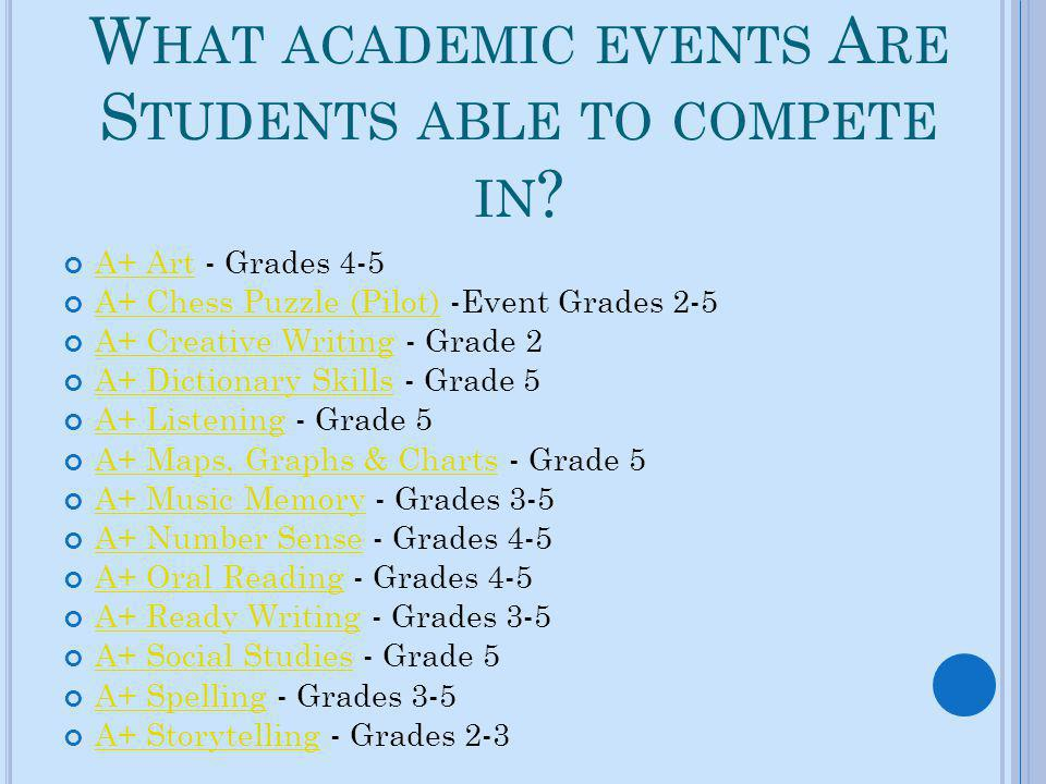 What academic events Are Students able to compete in