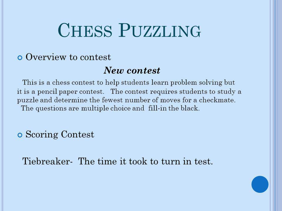Chess Puzzling Overview to contest New contest