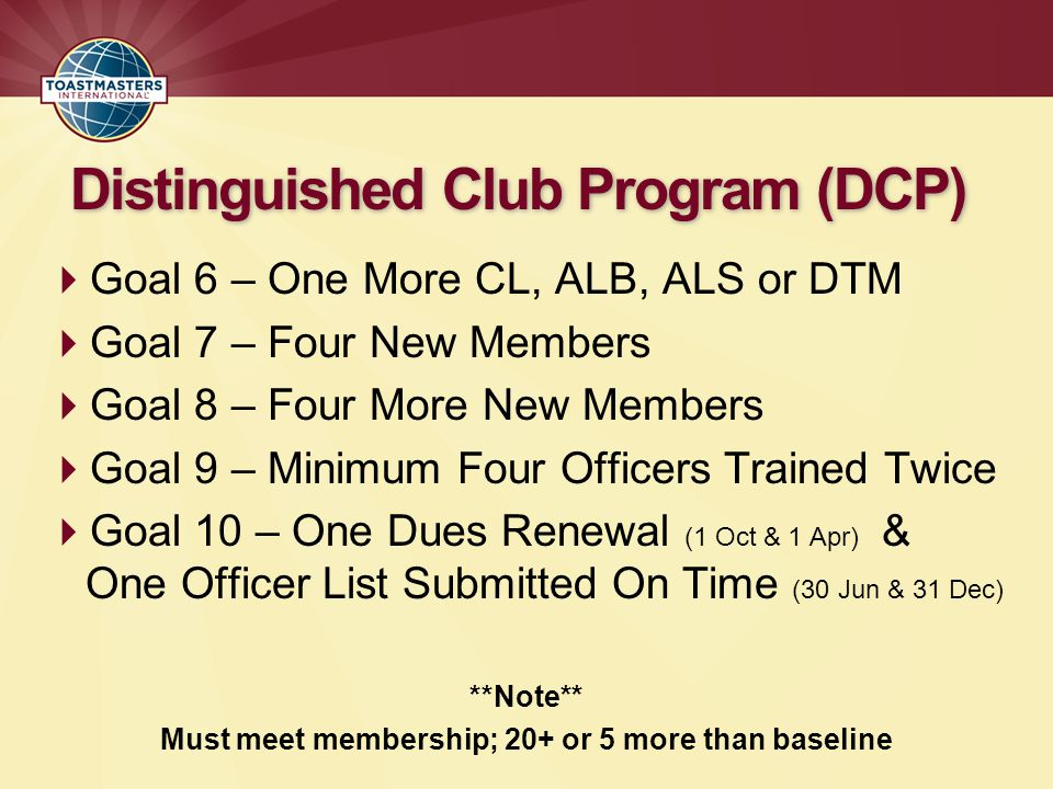 Distinguished Club Program (DCP)