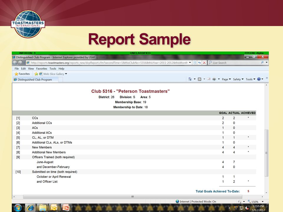 Report Sample