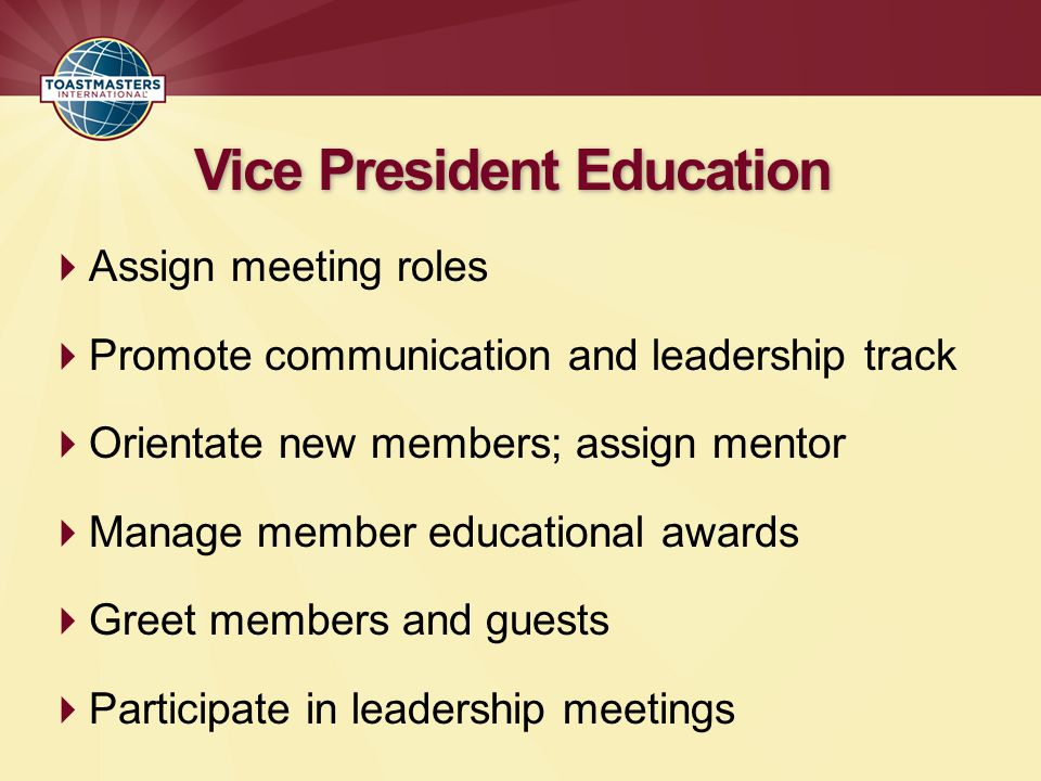 Vice President Education
