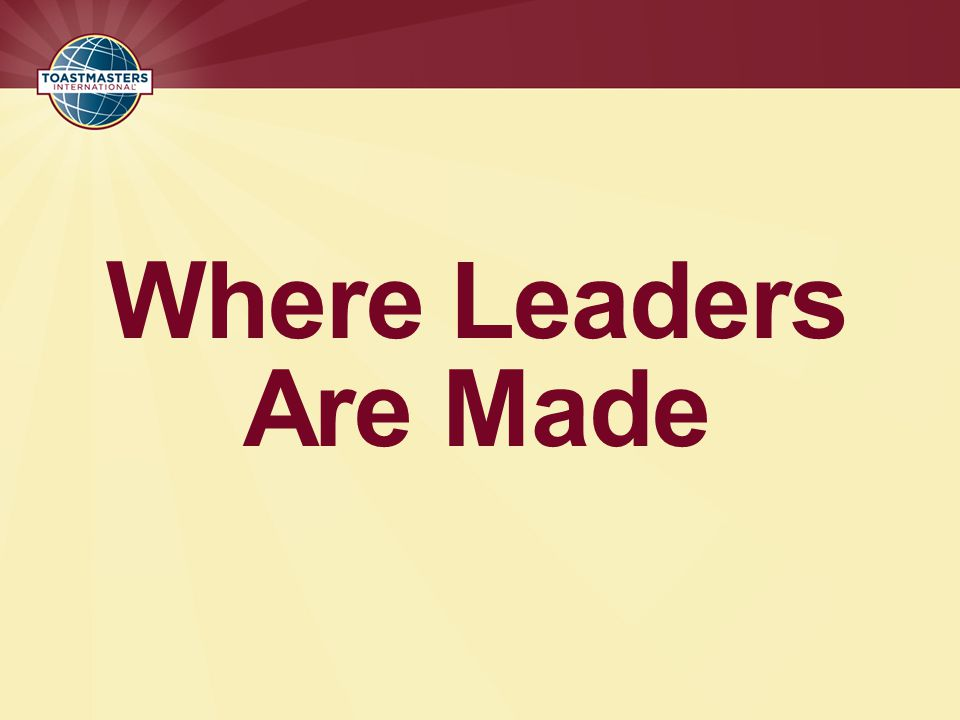 Where Leaders Are Made