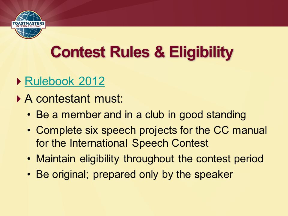 Contest Rules & Eligibility
