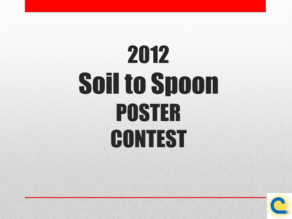 2012 Soil to Spoon POSTER CONTEST