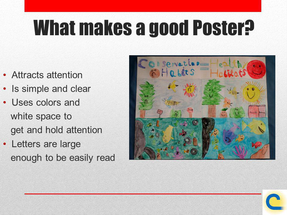 What makes a good Poster