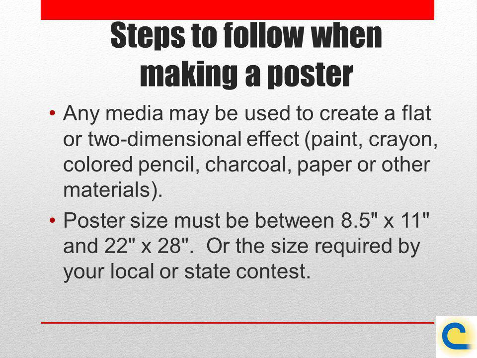 Steps to follow when making a poster