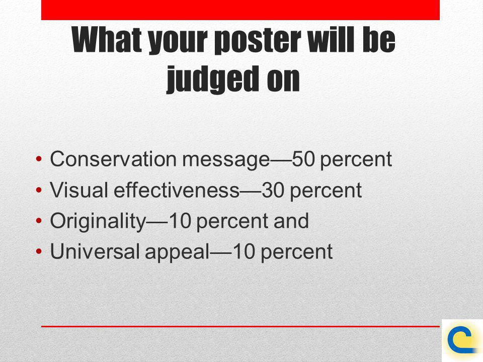 What your poster will be judged on