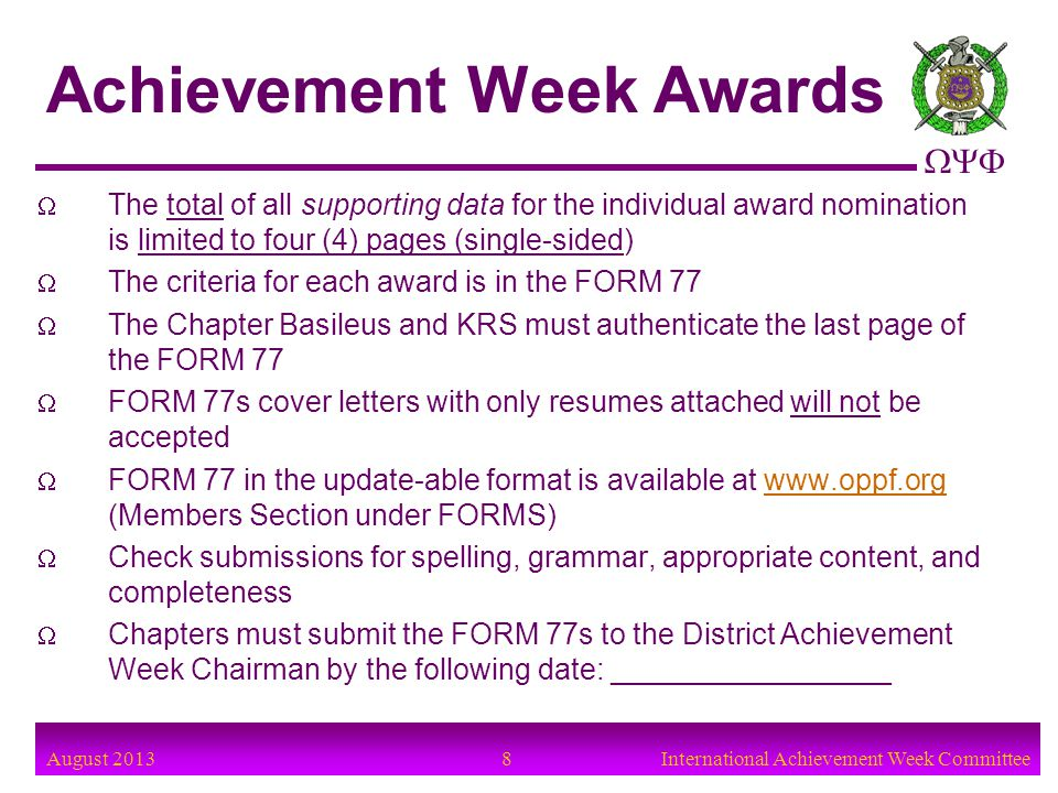 Achievement Week Awards