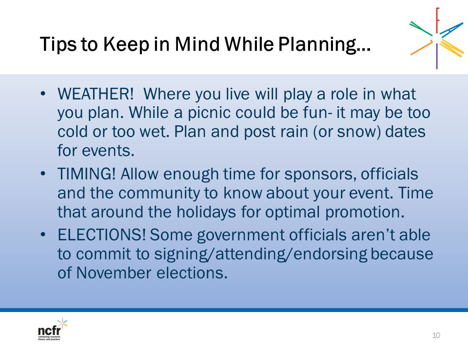 Tips to Keep in Mind While Planning…