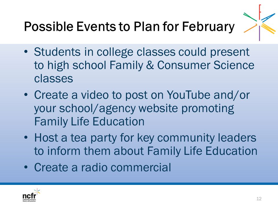 Possible Events to Plan for February