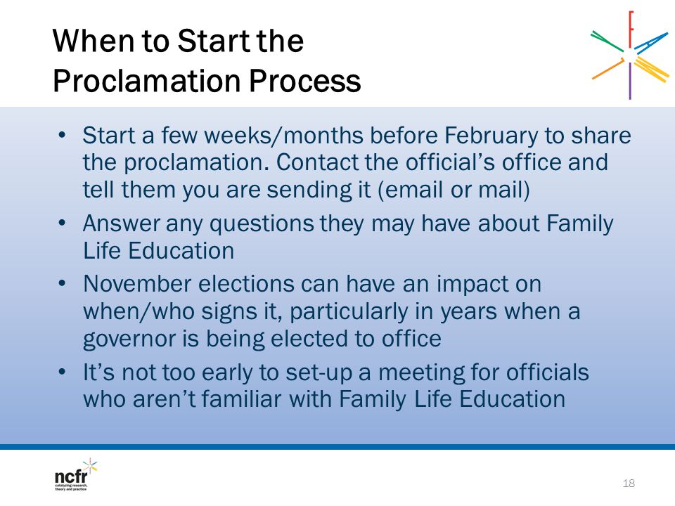 When to Start the Proclamation Process