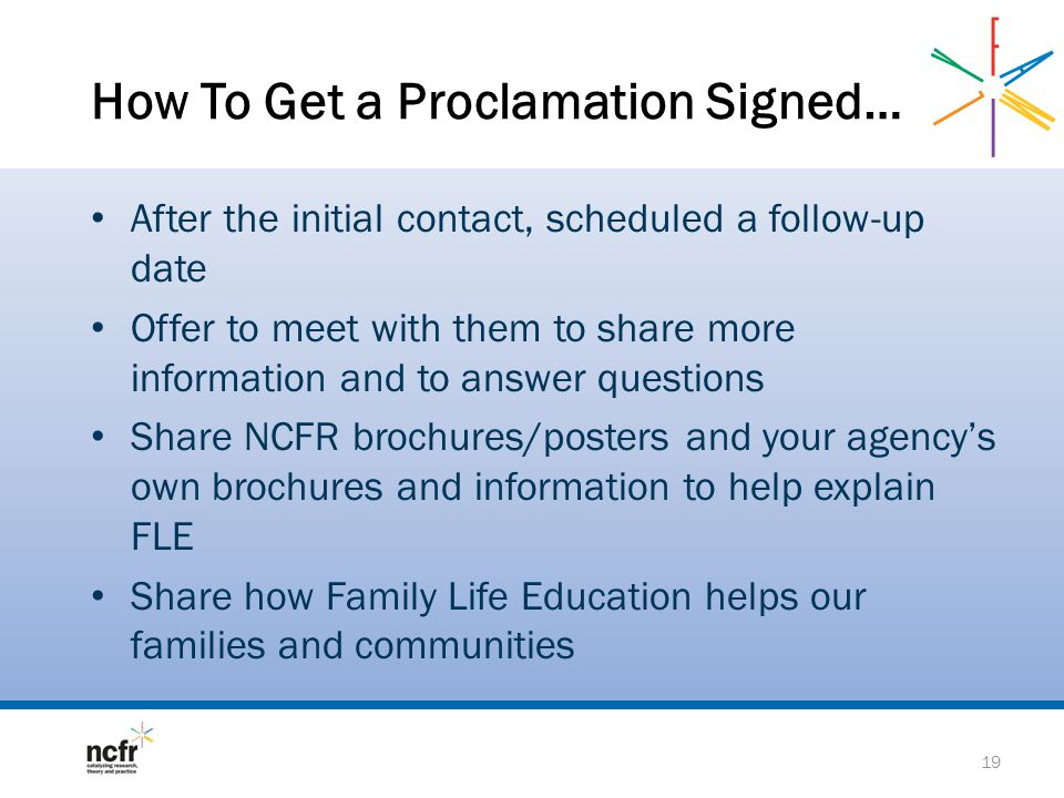 How To Get a Proclamation Signed…