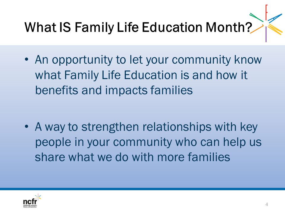What IS Family Life Education Month