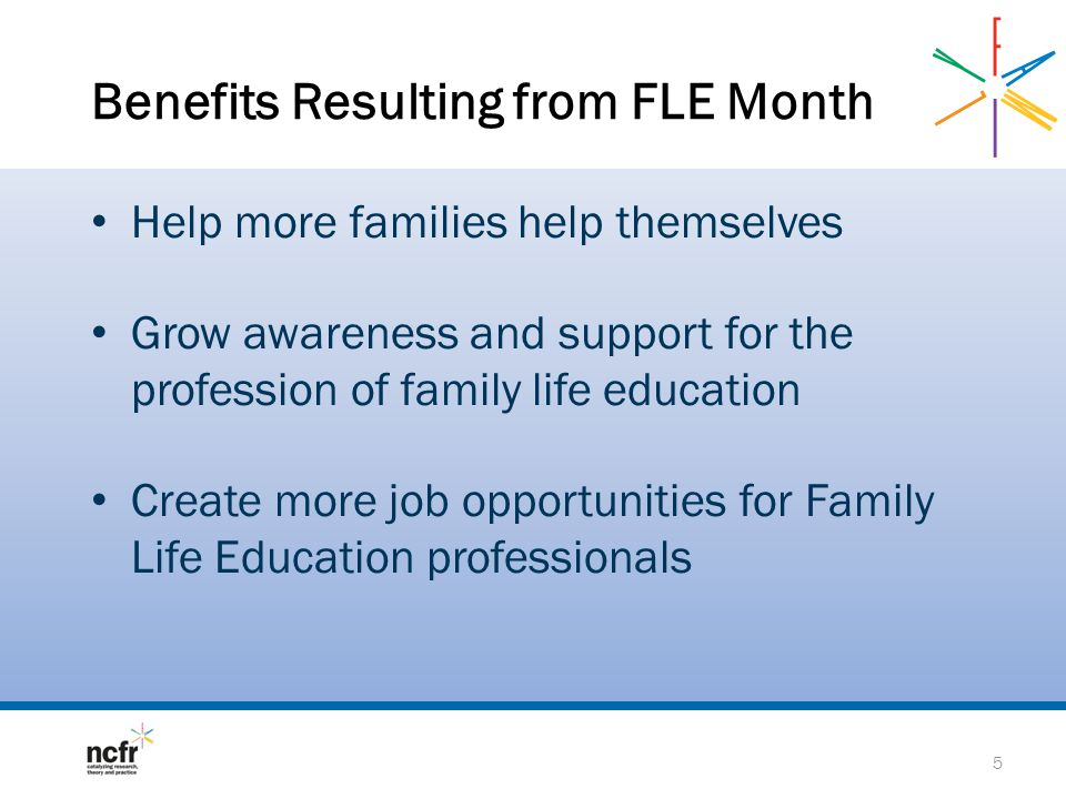 Benefits Resulting from FLE Month