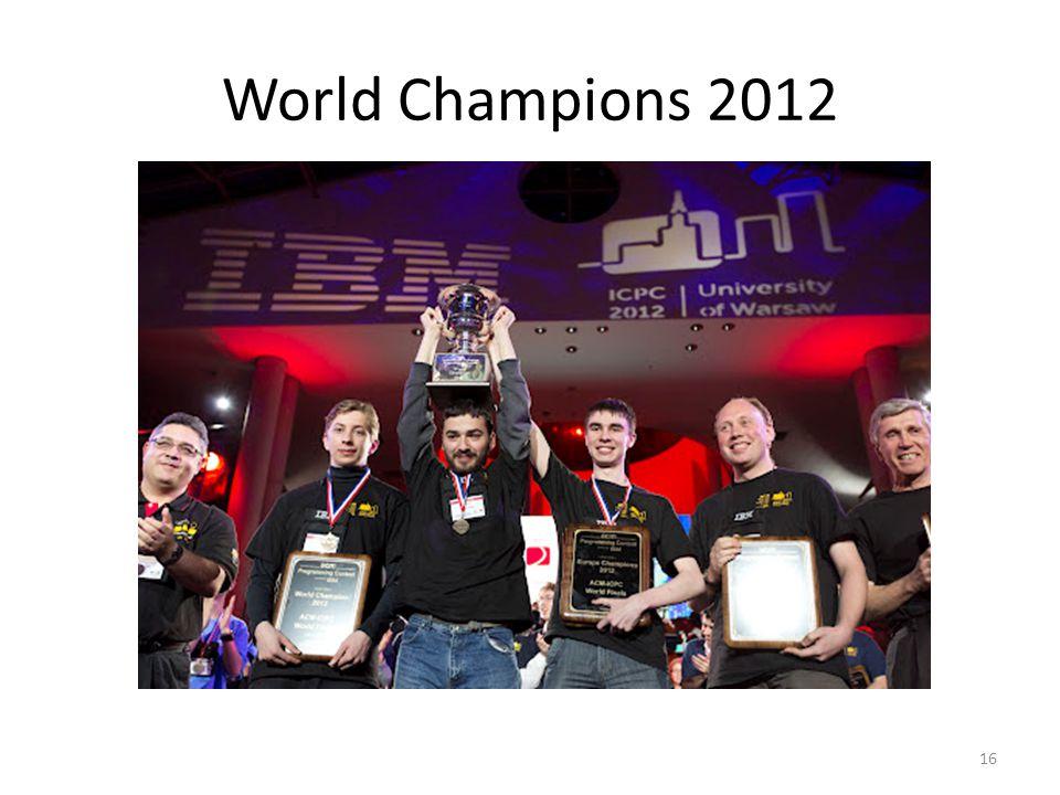 World Champions 2012