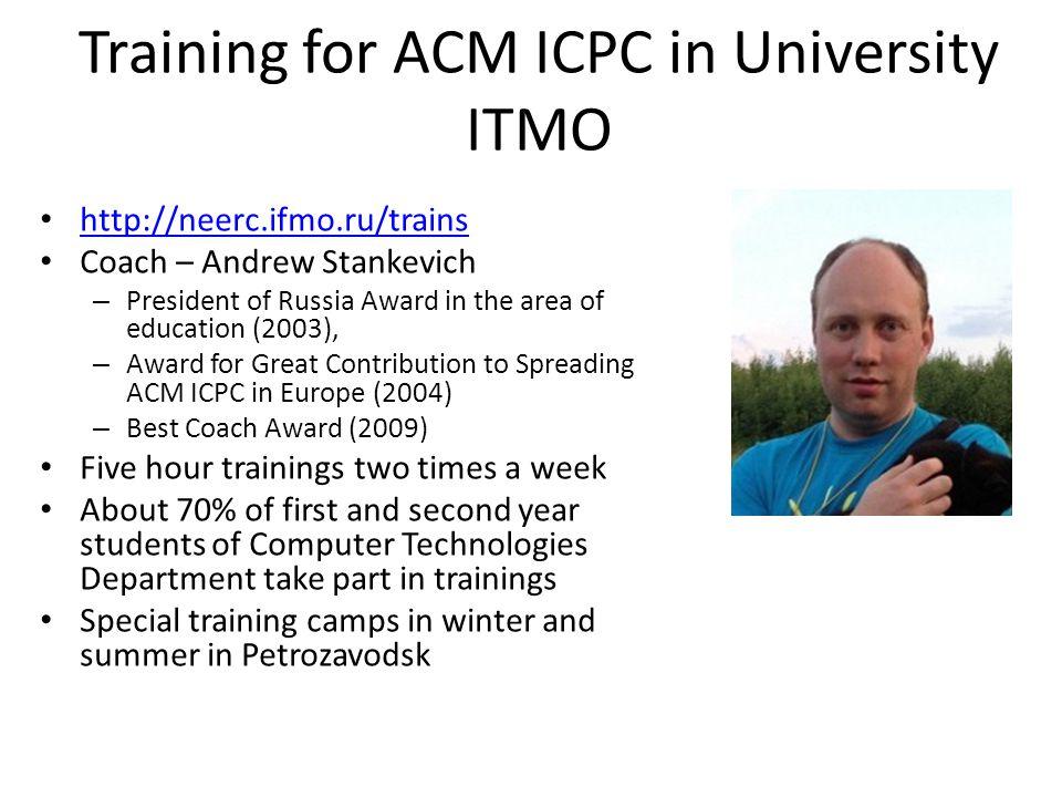 Training for ACM ICPC in University ITMO