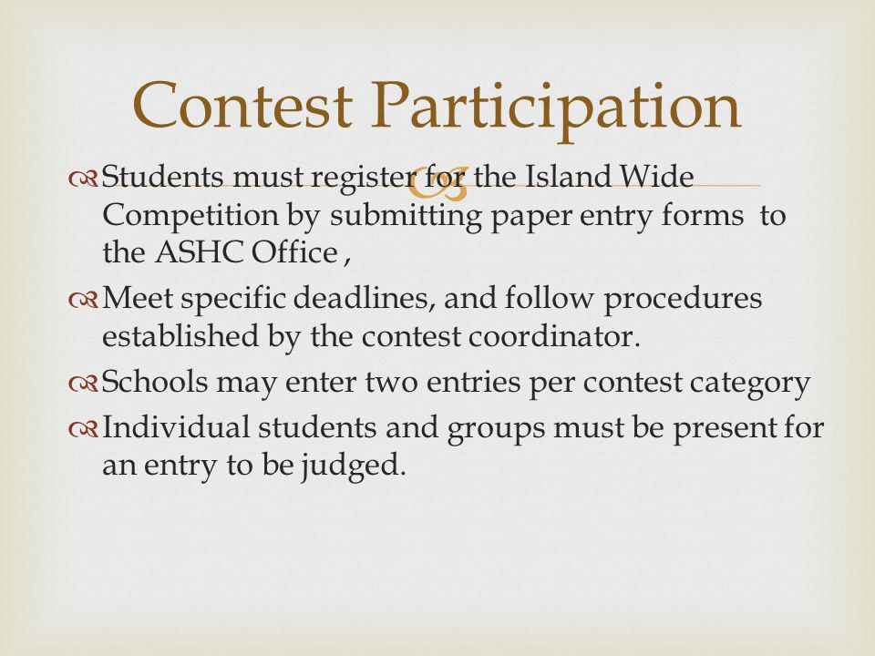 Contest Participation
