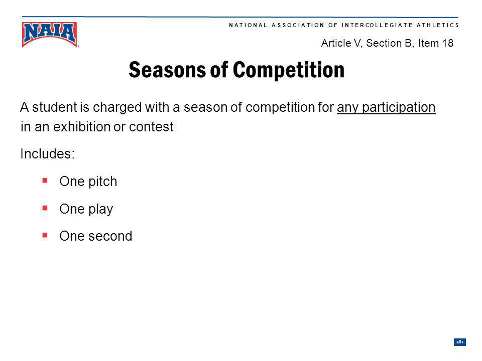 Seasons of Competition