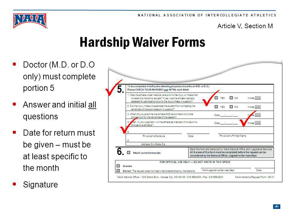 P P P P Hardship Waiver Forms
