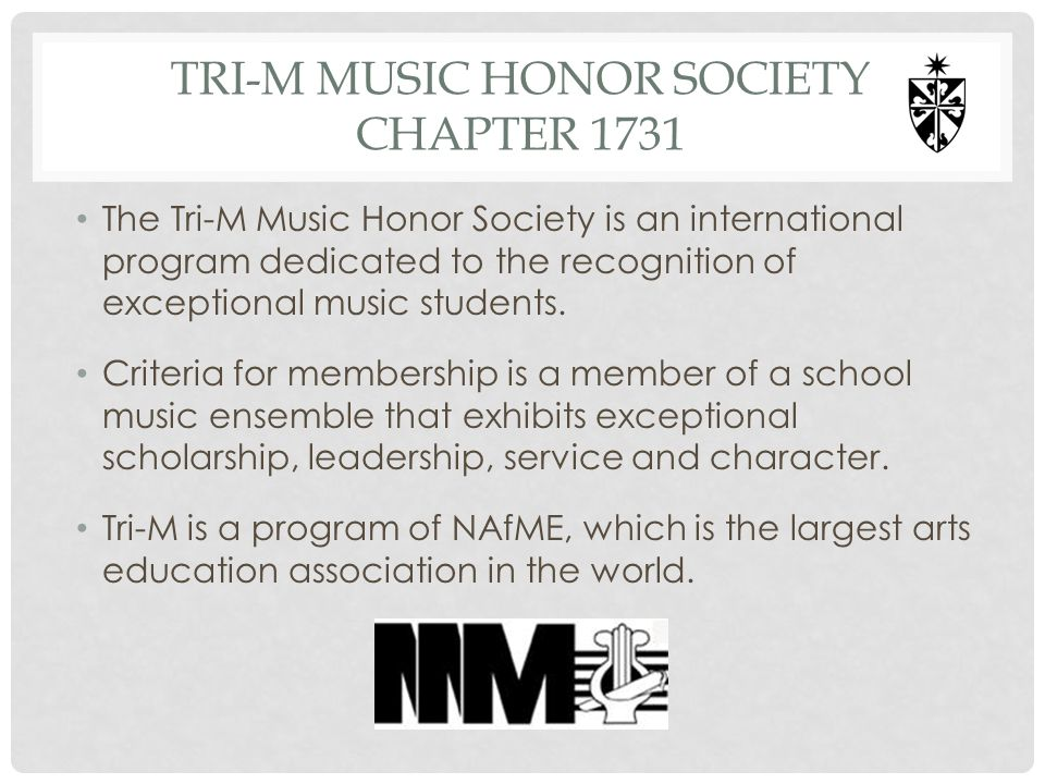 TRI-M Music Honor Society Chapter 1731