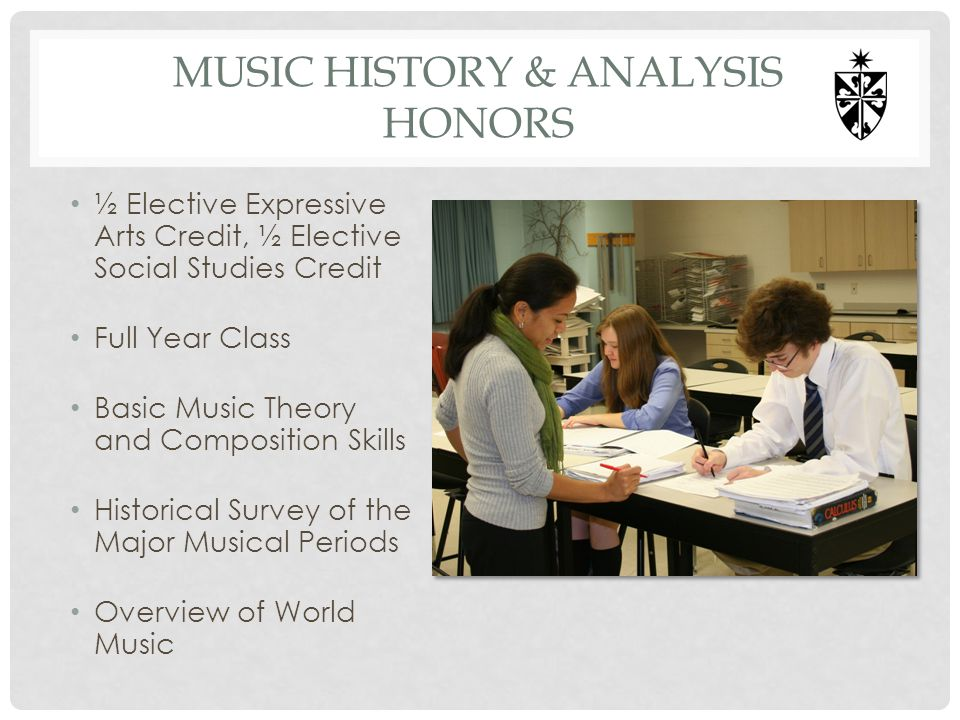 MUSIC HISTORY & ANALYSIS hONORS