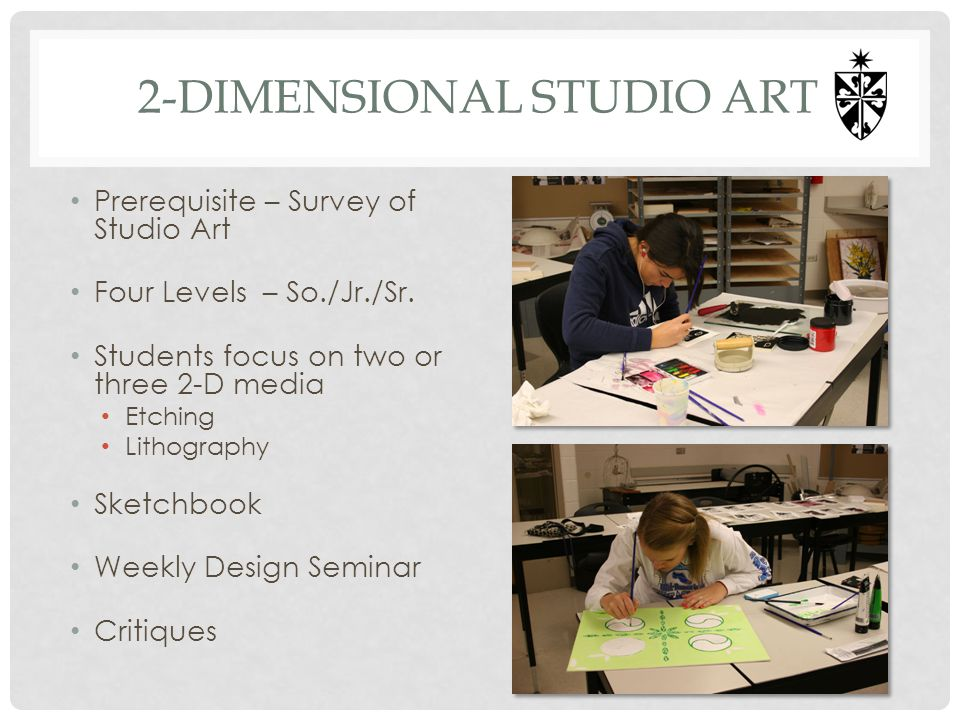 2-dimensional studio art