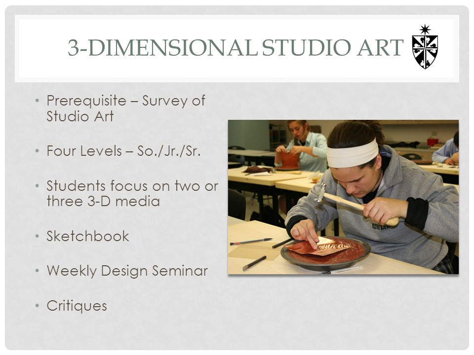 3-dimensional studio art