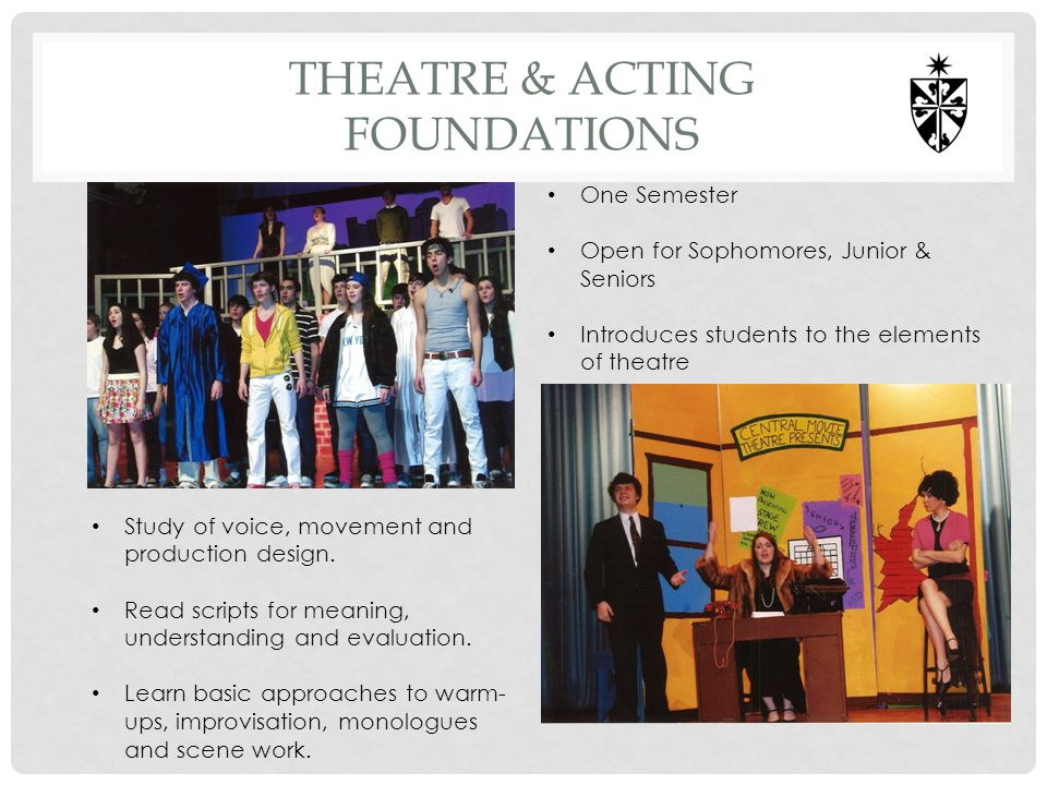 THEATRE & ACTING FOUNDATIONS