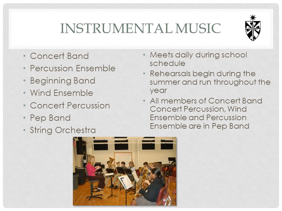 Instrumental music Concert Band Percussion Ensemble Beginning Band