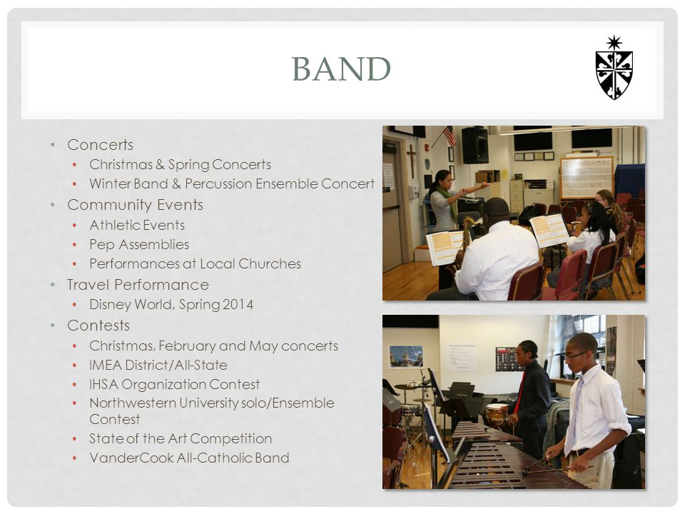 Band Concerts Community Events Travel Performance Contests
