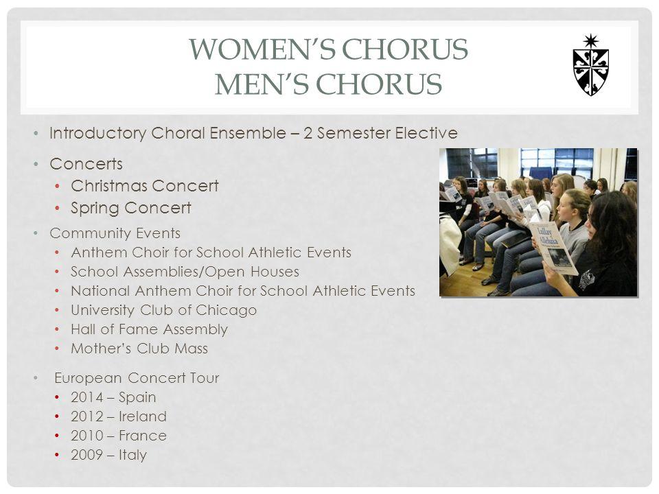 Women's chorus men's chorus