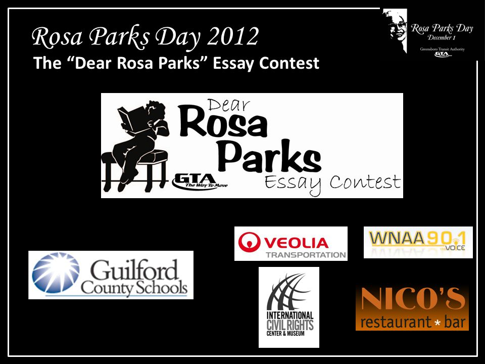 Rosa Parks Day 2012 The Dear Rosa Parks Essay Contest