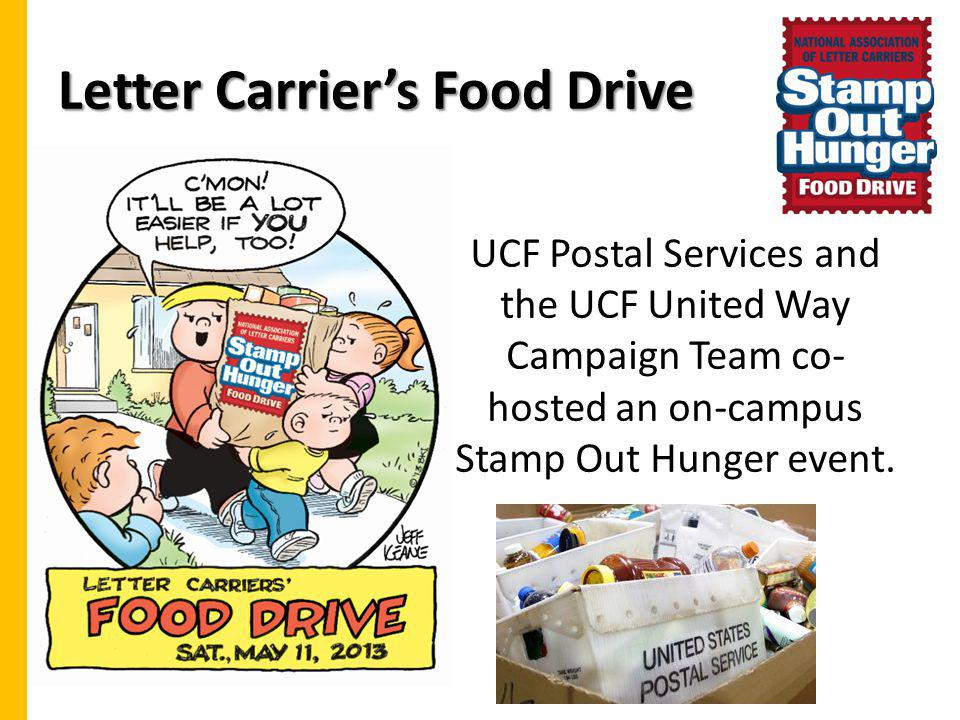 Letter Carrier's Food Drive