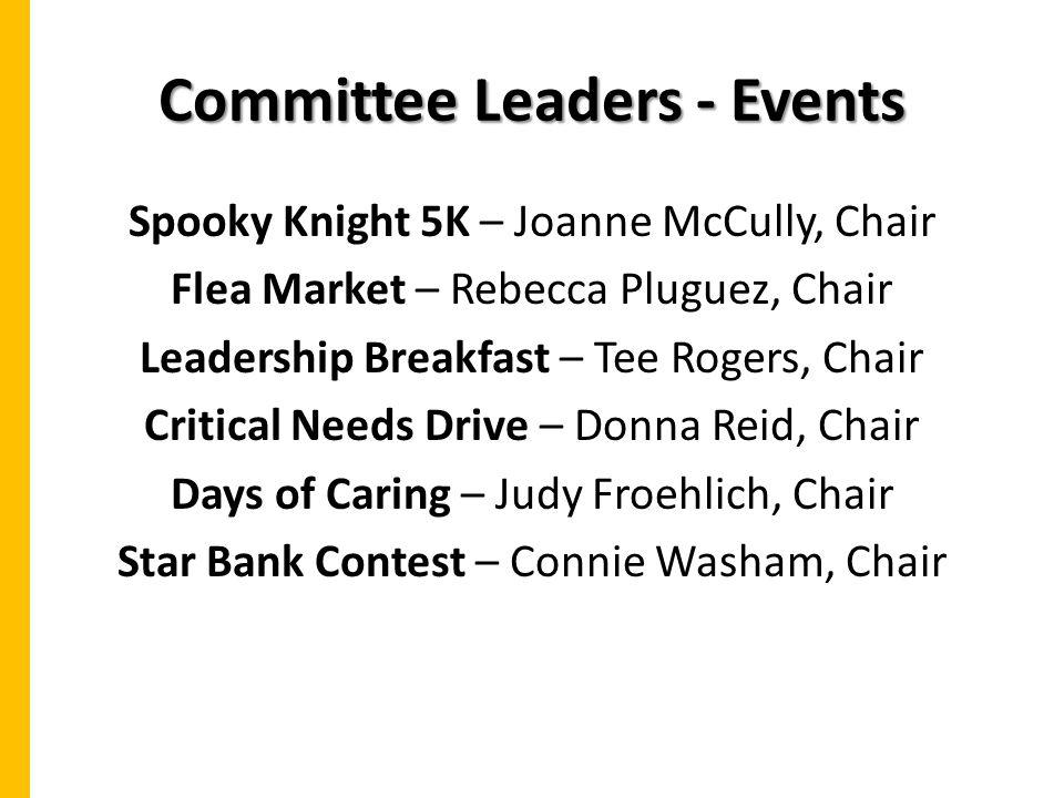 Committee Leaders - Events