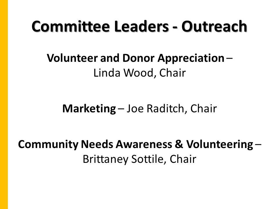 Committee Leaders - Outreach