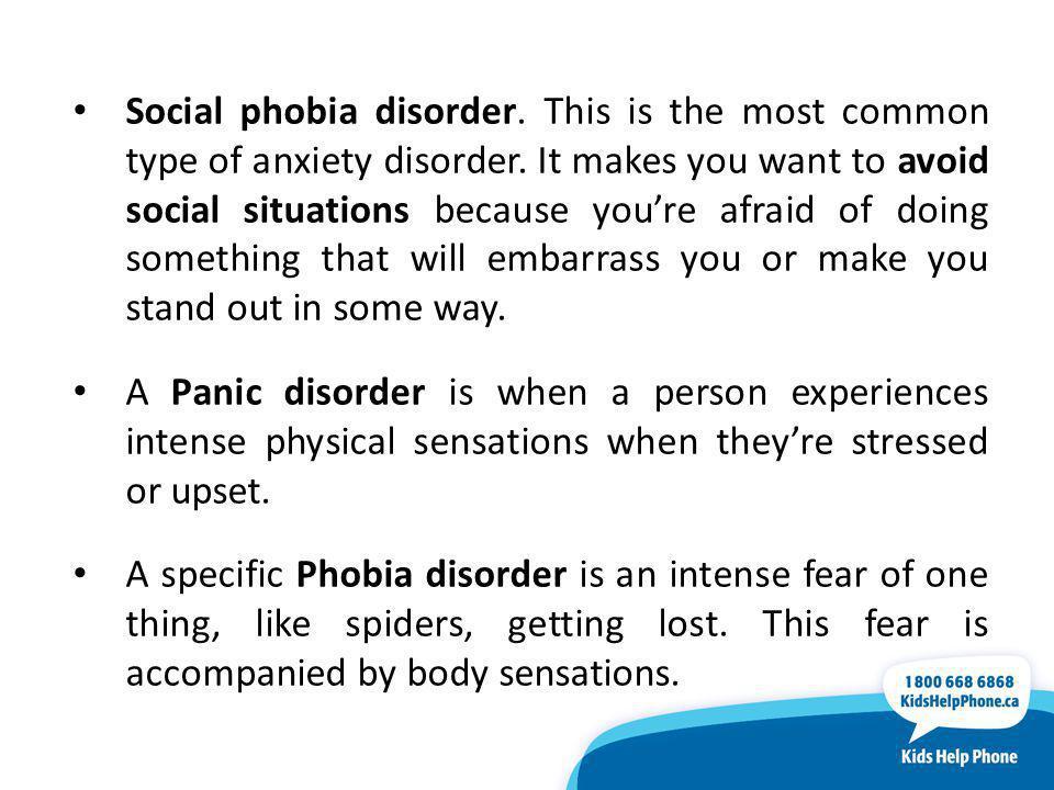 Social phobia disorder