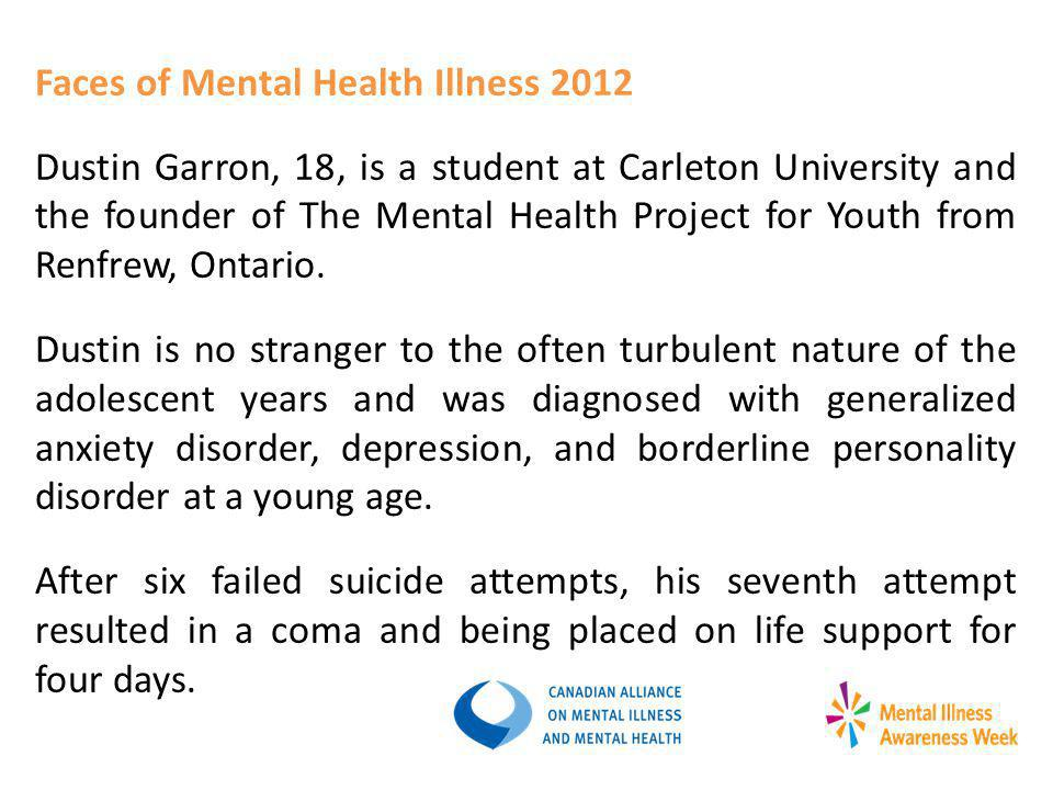 Faces of Mental Health Illness 2012