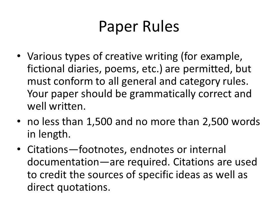 Paper Rules