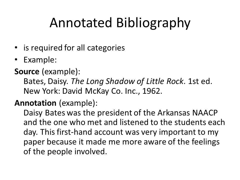 annotated bibliography natbib