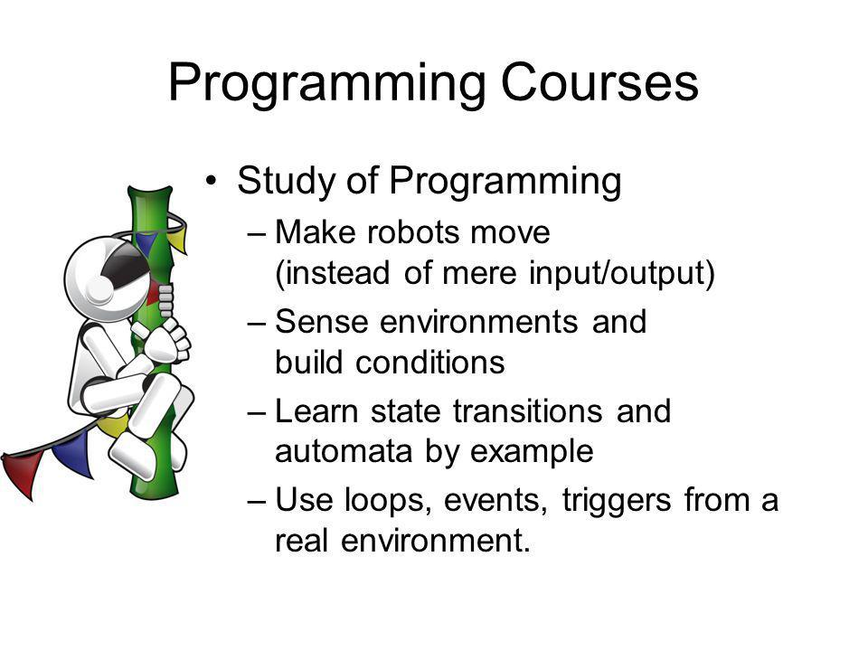 Programming Courses Study of Programming