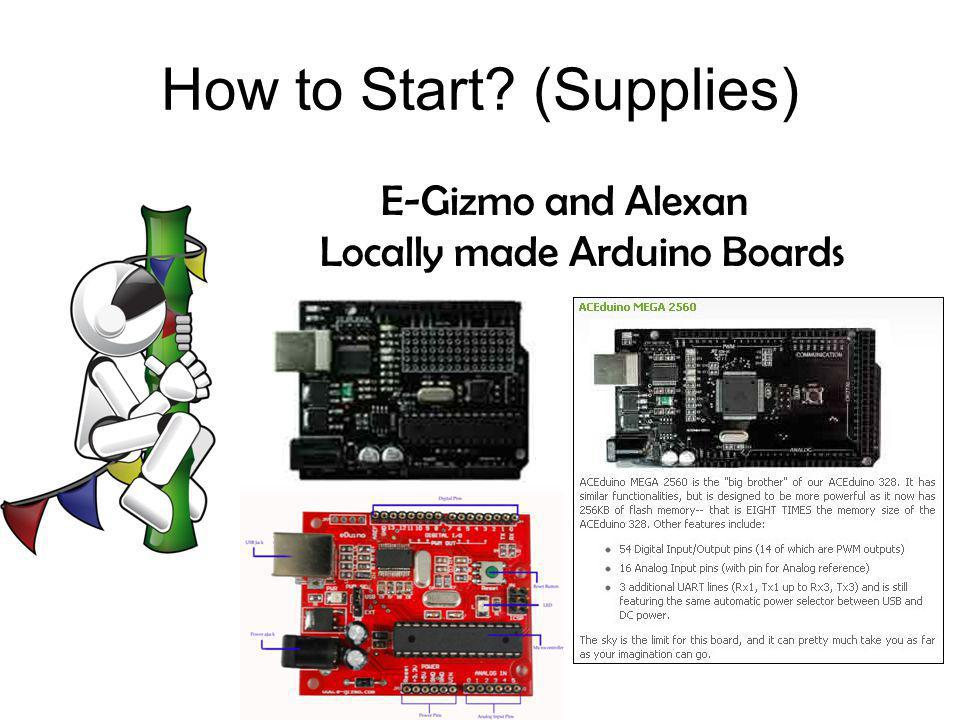 How to Start (Supplies)