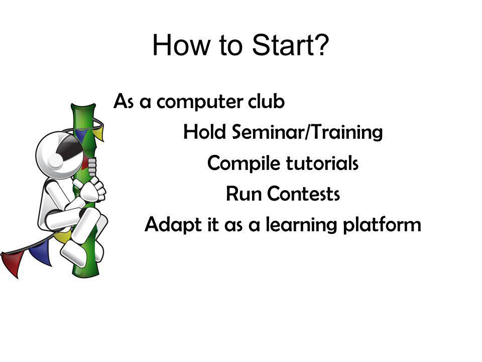 How to Start As a computer club Hold Seminar/Training