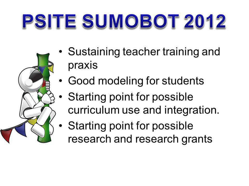 PSITE SUMOBOT 2012 Sustaining teacher training and praxis