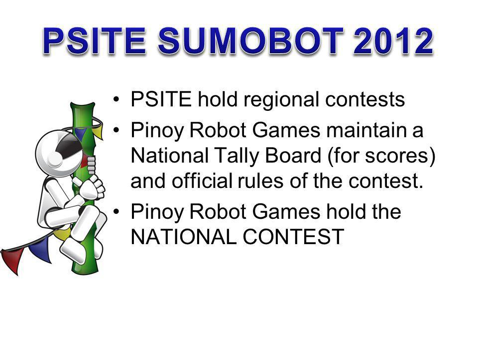 PSITE SUMOBOT 2012 PSITE hold regional contests