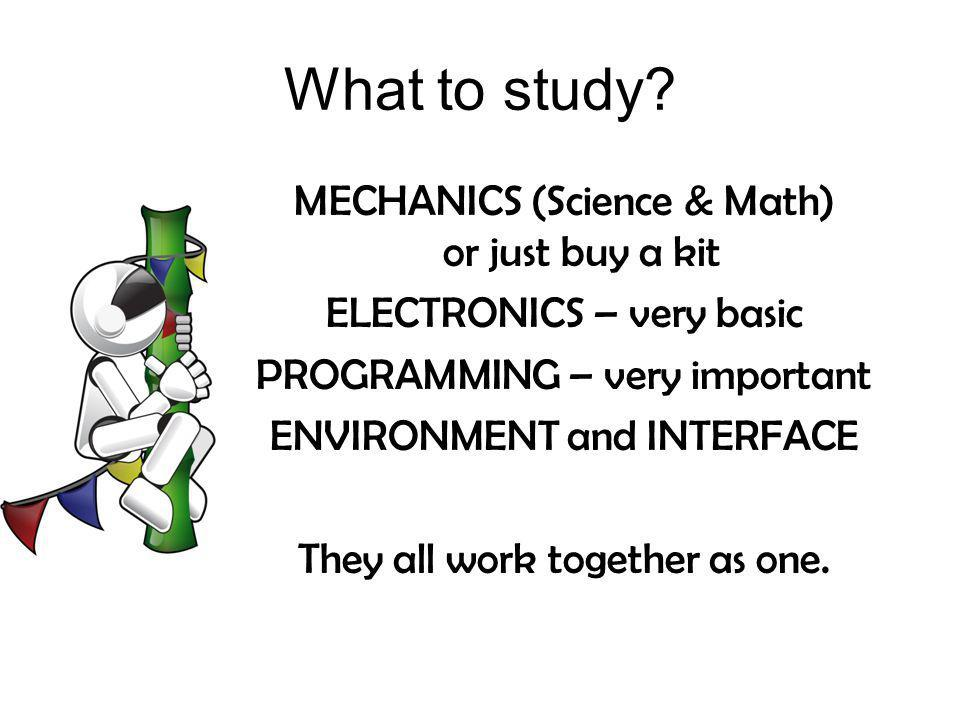 What to study MECHANICS (Science & Math) or just buy a kit