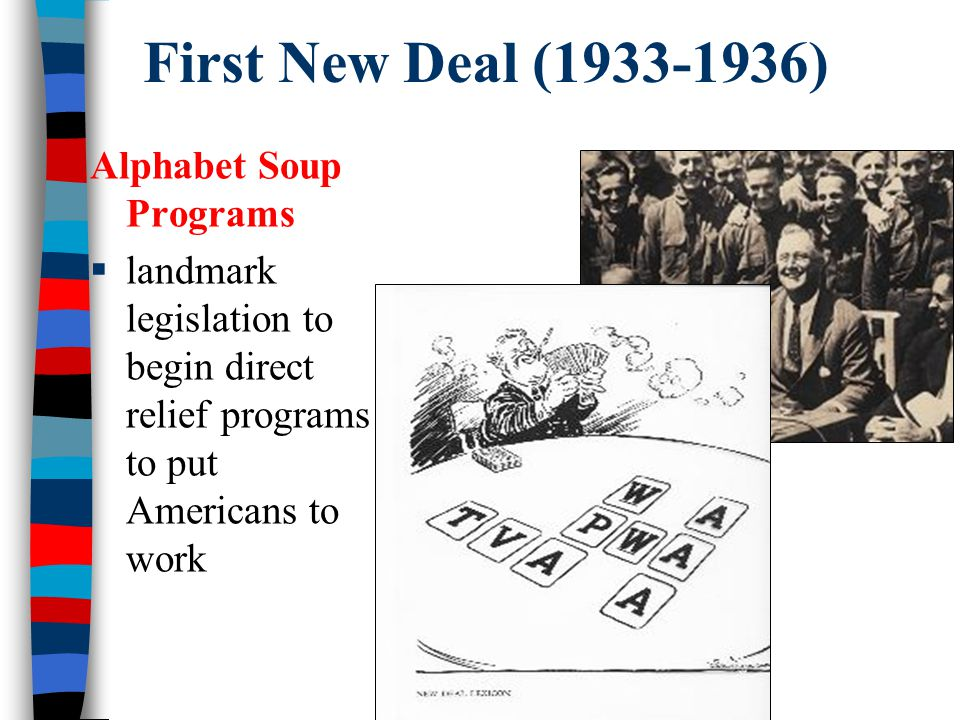 First New Deal (1933-1936) Alphabet Soup Programs