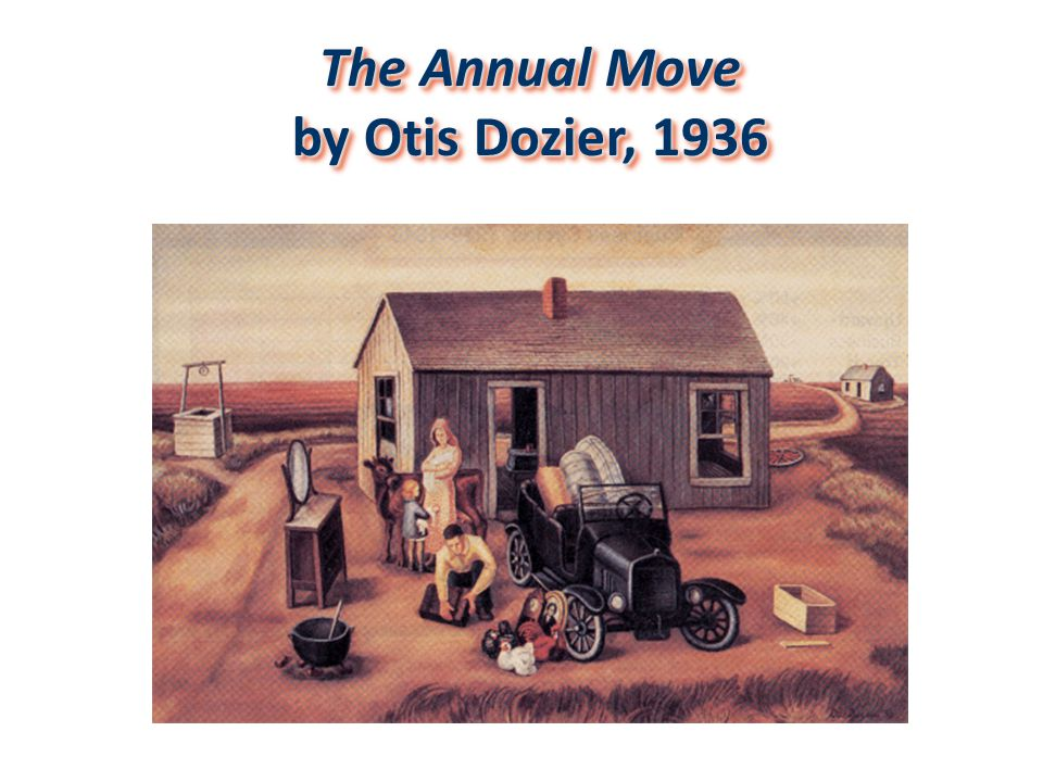 The Annual Move by Otis Dozier, 1936